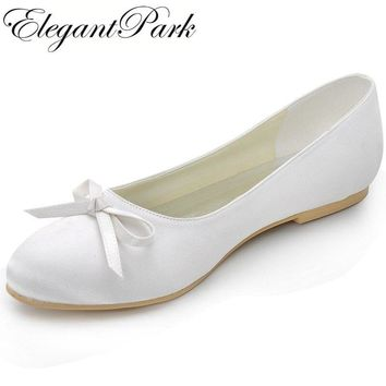 Round Toe w/Bow Wedding Ballet Shoes