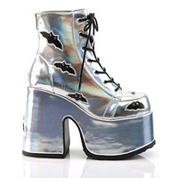 Silver Bat Sh*t Crazy Holographic Chunk Rave Shoes
