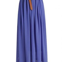 Long Chiffon Skirt - 2