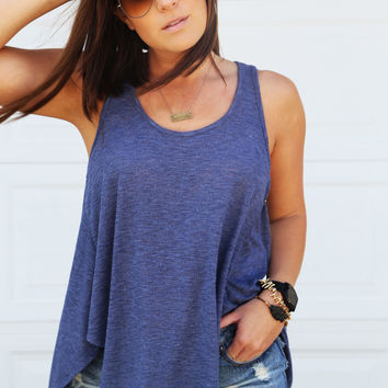 On The Road Again Knit Tank {Blue}