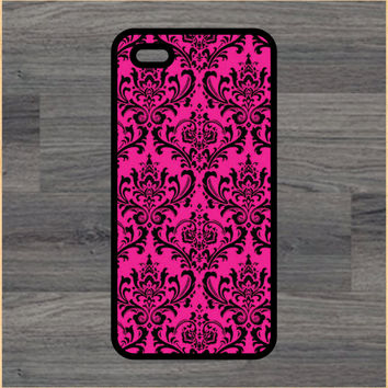 Pink Damask Print Design Art iPhone 4 / 4s / 5 / 5s / 5c /6 / 6s /6+ Apple Samsung Galaxy S3 / S4 / S5 / S6