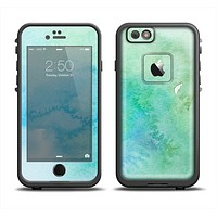 The Subtle Green & Blue Watercolor Skin Set for the Apple iPhone 6 LifeProof Fre Case