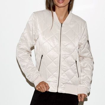 Kendall and Kylie Satin Quilted Bomber Jacket at PacSun.com