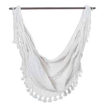 Cotton hammock swing, 'Take Me to the Clouds'
