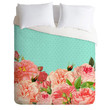 Deny Designs Favorite Floral Luxe Duvet Cover Mint One Size For Women 23690052301