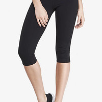 EXP CORE RUCHED COMPRESSION CAPRI LEGGING from EXPRESS