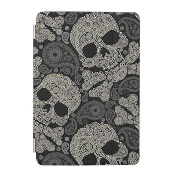 Sugar Skull Crossbones Pattern iPad Mini Cover