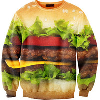 Mr. GUGU & Miss GO: Hamburger Sweatshirt Unisex, at 9% off!