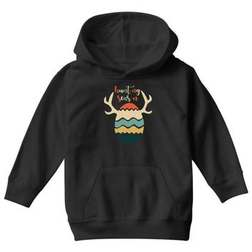 Hunting Season Retro Color 80s Style Youth Hoodie