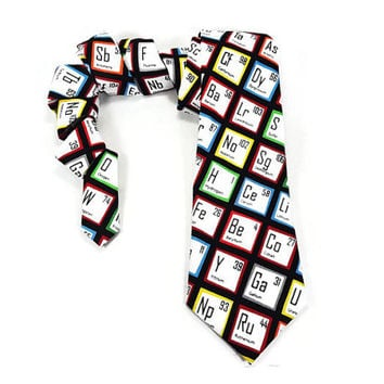 Periodic Table of Elements, Science tie, Chemistry tie, Graduation necktie, Chemist tie, Chemistry gift, teacher tie, physics, colorful