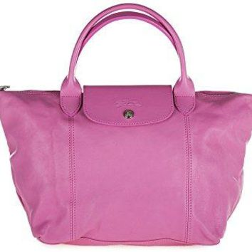 Longchamp women's leather handbag shopping bag purse pink