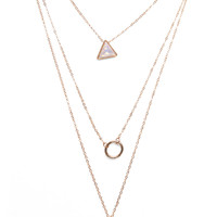 Celestial Gems Layered Necklace | Wet Seal
