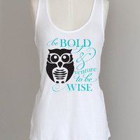 Owl Eco Friendly Pima Cotton Modal Racerback Womens Tank