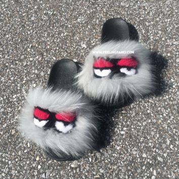 Misty Monster Fur Slides