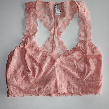 Wishlist-Lace Racerback Bralette-Light Pink