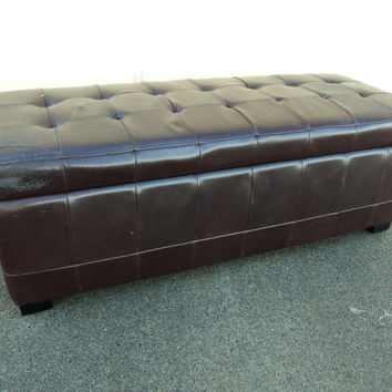 Hangzhou Furniture Bench Seat With Storage 51in L x 19in W x 19in D Espresso -- Used