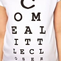 ASOS Maternity T-Shirt With Come a Little Closer