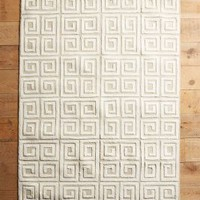 Greek Key Rug by Anthropologie
