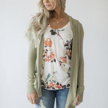 Lightweight Cuddle Cardigan - Sage