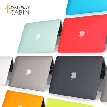 DallowyCabin 2016 NEW Matte Hard Case Cover For Macbook Mac book 11 13 15 Air Pro Retina 11.6 12 13.3 15.4 inch Laptop Cases