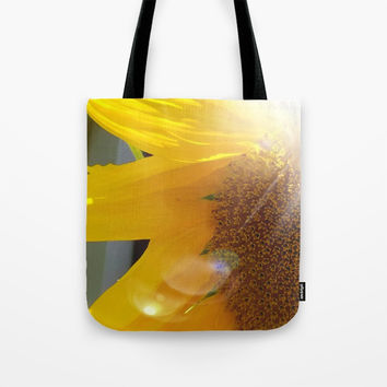 Bright Sunny Sunflower Tote Bag by 11penguingirl