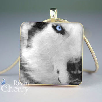 wolf scrabble tile pendant,wolf jewelry pendants,wolf resin pendant- A0415SP
