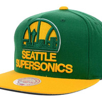 Seattle SuperSonics NBA XL Logo Snapback Cap
