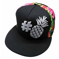 """Hashtag Pineapple"" Adjustable Hat"