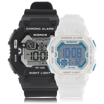 XONIX  Lovers' Outdoor Sports Digital Watch Fashion Sports Multifunction LED Watches Waterproof 100m  Swimming Diving Wristwatch