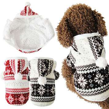 Hot Soft Winter Warm Pet Dog Clothes Snowflake Dos Costume Clothing Jacket Teddy Hoodie Coat ropa para perros FEN#