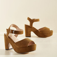 Sincerest Platform of Flattery Heel in Toffee