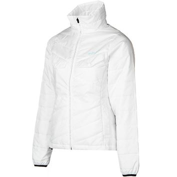 Flylow Womens White Piper Puffy Lightweight Jacket Coat Snowboarding & Ski $160