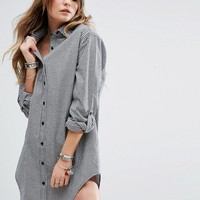 Glamorous Long Sleeve Shirt Dress In Gingham at asos.com
