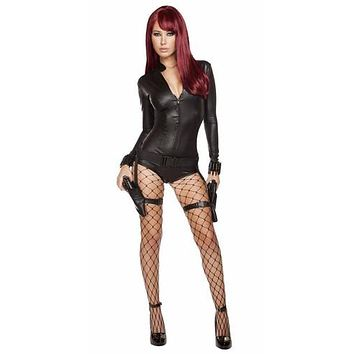 Sexy Avengers Inspired Black Widow Halloween Costume