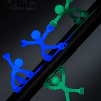 Glow in the Dark Q-Man: 4-pack of flexible magnetic men.