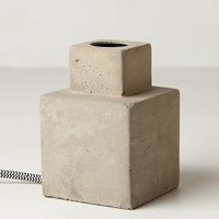 Paved Square Lamp Base by Anthropologie Grey