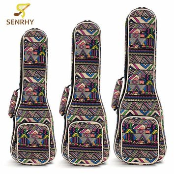 "21"" 23"" 26'' Ukulele Instrument Bags Ukelele Bag With Double Shoulder Strap Bag Canvas Guitar Bags Guitar Parts & Accessories"