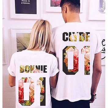 ONETOW Fashion Unisex Printed Short-Sleeved T-Shirt Top