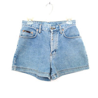 90's Denim High Rise Shorts size - 7 - M - Waist 28""