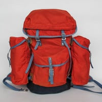 Vintage Red Hiking Backpack / Rucksack