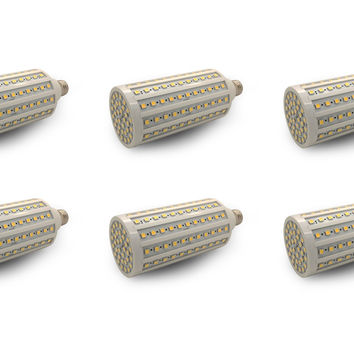 240V 33W LED Light Bulb Medium ES Base E27 Replacements =200W Lamp - 6 Pack