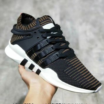 Adidas EQT Support Adv Knitted running shoes Women Men Fashion Sneakers B-MDTY-SHINING Black
