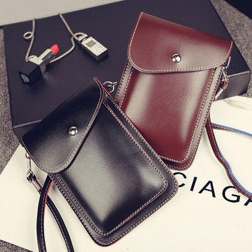 Handmade Cell Phone Cross Body Leather Bag Gift