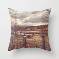 River Throw Pillow by Anthony Londer | Society6