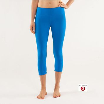 Lululemon Wunder Under Crop Women Sport Leggings Pants Trousers-2