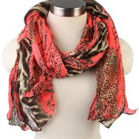 long animal print scarf - debshops.com