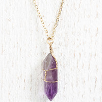 Purple Stone Necklace