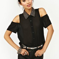 Total Stud Blouse - Black