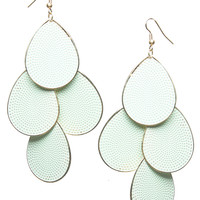 Teardrop Chandelier Textured Earrings | Wet Seal