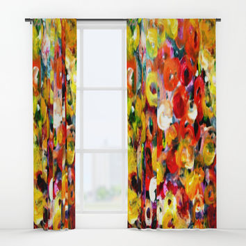 Aboriginal Art - Finger Painting Window Curtains by Chris' Landscape Images & Designs